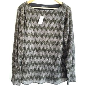 Banana Republic Metallic Shine Chevron Print L.